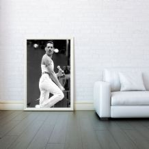 Freddie Mercury Mosaic, Rock Band Queen, Decorative Arts, Prints & Posters,Wall Art Print, Poster Any Size - Black and White Poster